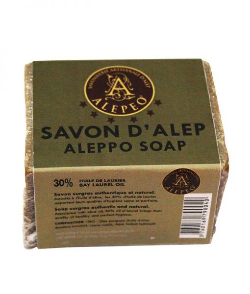 Jabón de Aleppo 30% bloque natural 200 gr.