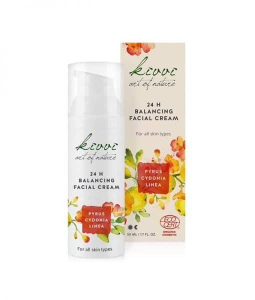 Crema 24H Equilibrante Facial Kivvi Pyrus Cydonia 50 ml.