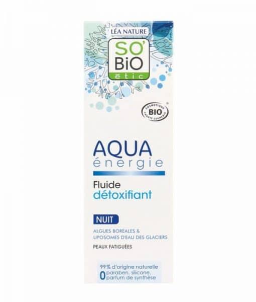 Fluido Detox noche Aqua Energie 50 ml.