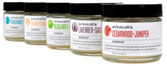 Desodorantes Schmidts