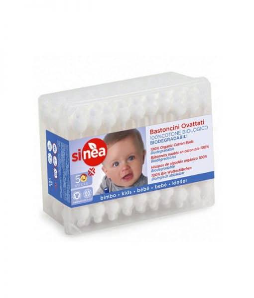 Bastoncillos 100% Algodón Bio Bebé Sinea 50 p