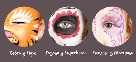 Pinturas para la cara de los niños