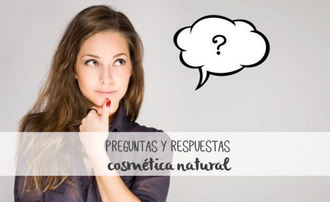 preguntas y respuestas cosmética natural