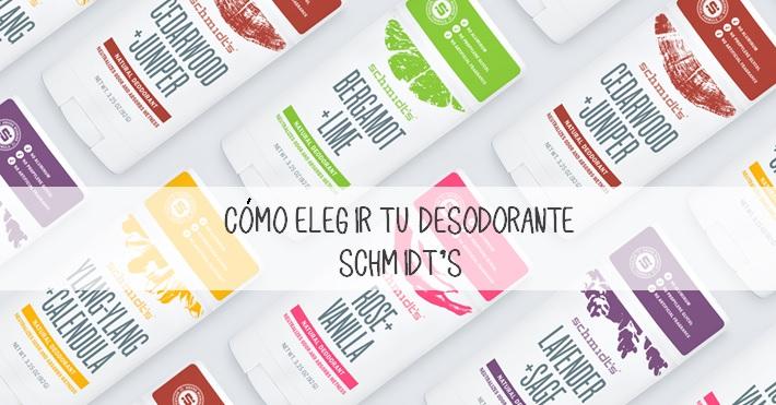 Cómo elegir un desodorante de la marca schmidts